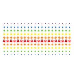 Bug shape halftone spectrum pattern vector