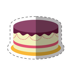 Cake dessert party celebration shadow vector