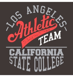 California Athletic Team vector image