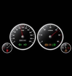 Car's dashboard vector