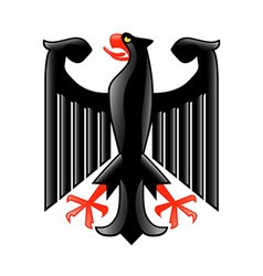 coat arms germany isolated on white vector image