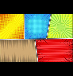 comic page book bright background vector image