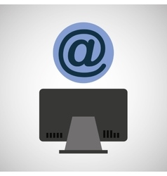 Computer device mail network icon vector