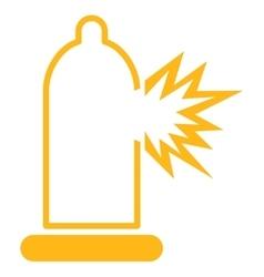 Condom Damage Icon vector