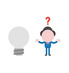 confused businessman character with grey light vector image