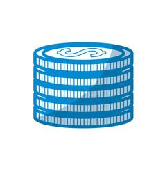 Contour coins money save vector