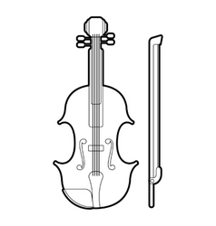 Contrabass icon outline style vector