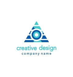 Creative Design Triangle Logo vector image