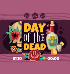 dead day announcement poster vector image