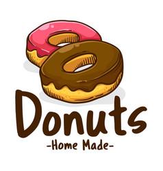 delicious sweet donuts shop icon vector image