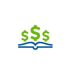 Dollar book logo icon design vector