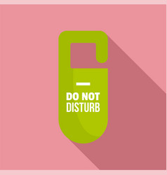 Dont disturb tag icon flat style vector