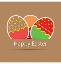 Easter eggs card with colourful eggs vector image