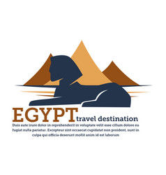 egypt travel destination pyramids and sphinx vector image