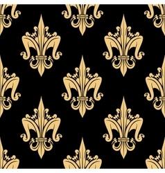 Fleur-de-lis elements seamless pattern vector