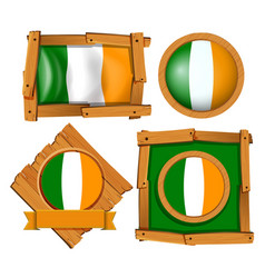 Frame design for ireland flag vector