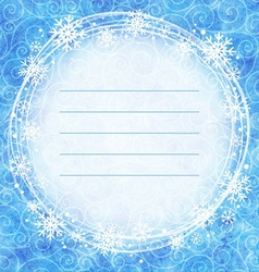 frame snowflakes on a watercolor background vector image