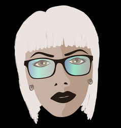 Glamor girl wears sunglasses vector