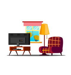 home interior living room classic vector image