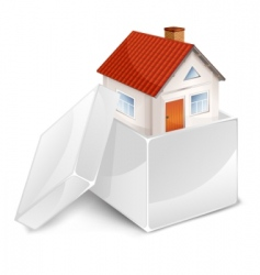 House in box symbol vector
