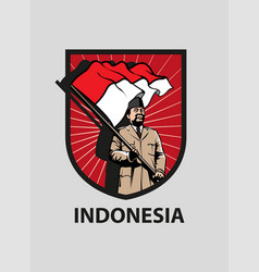 Indonesia merdeka vector