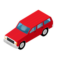 jeep car icon isometric city transport vector image