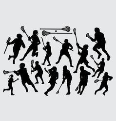 la crosse sport silhouette vector image