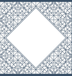 linear geometry background with frame vector image
