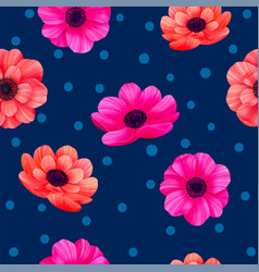 Luminous tropical seamless pattern with 3d style vector
