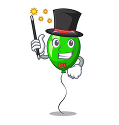Magician green balloon on character plastic stick vector