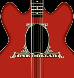 One Dollar Guitar vector image