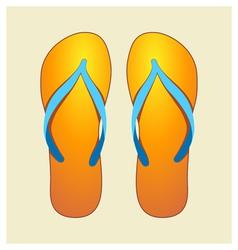 Orange flip-flops vector
