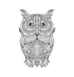 Owl art theme vector