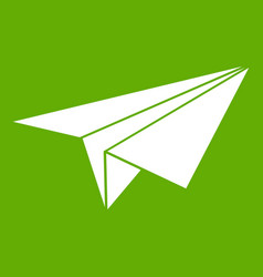 paper plane icon green vector image