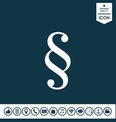 Paragraph symbol icon vector