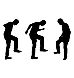 people stepping on things with legs vector image