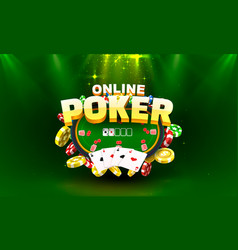 poker online gamble game play banner club sport vector image