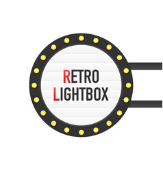 Retro lightbox billboard vintage frame lightbox vector