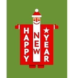 Santa Happy New Year Sign vector image