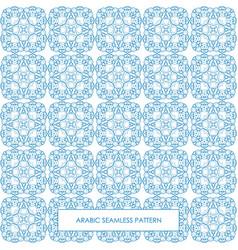 seamless arabic pattern blue vector image
