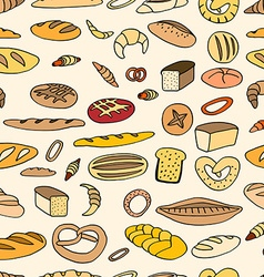 Seamless bread background vector image