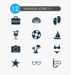 Season icons set collection of forceps ship vector