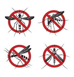 Set mosquito sign vector