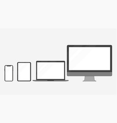 set of electronic devices in a flat style style vector image
