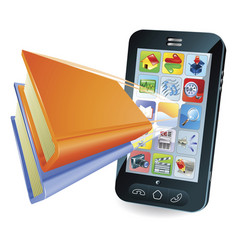 smartphone book concept vector image