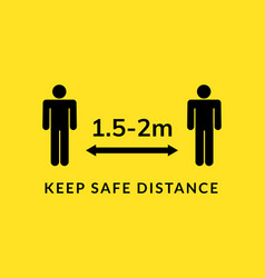 social distance meter icon keep distance corona vector image
