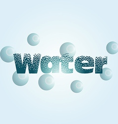 Some blue text with texture and bubbles around it vector