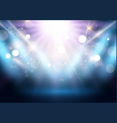 Spotlight display background vector