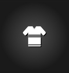 t shirt icon flat vector image