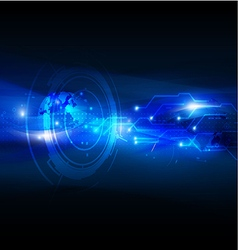 Technology abstract futuristic digital background vector image